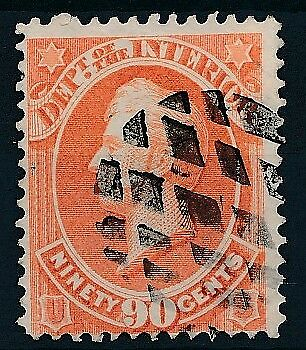 [4637] USA 1873 official INTERIOR good stamp very fine used