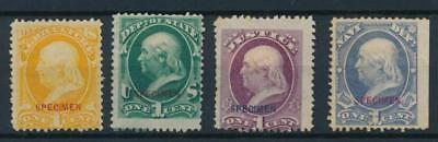 [4642] USA lot of 4 classic stamps very fine NO GUM with Specimen