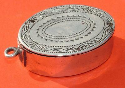 """Silver George Iii 1798 Vinaigrette Engraved """"wedding Cake Of H.m The Queen 1947"""""""