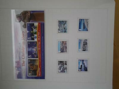 (C33)  Isle of Man 2010 Christmas  MNH set and mini sheet