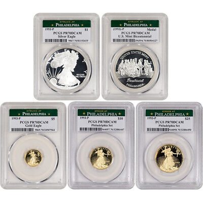 1993-P US Gold and Silver - The Philadelphia Collection - PCGS Certified