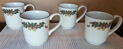 Nice Johnson Brothers - 4 x  Mugs  -  Victorian Christmas
