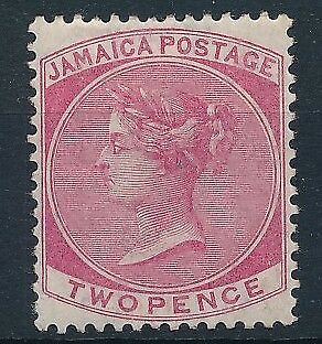 [54071] Jamaica 1870-72 good MH Very Fine stamp $100
