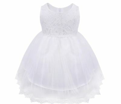 Baby Princess Girls Dress Flower Christening White Wedding Party Kids Clothes