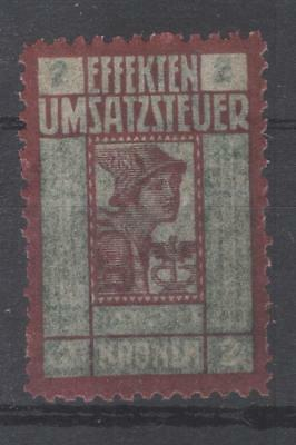 Austria stock transfer tax revenue unissued 1920 MNH fiscal Stempelmarke