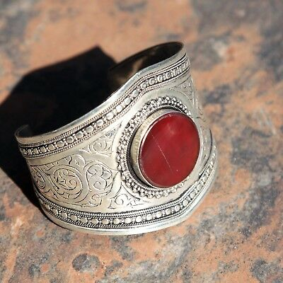 BRACELET (1pc) Turkoman Tribal Dance ATS Real CARNELIAN BellyDance 502d2