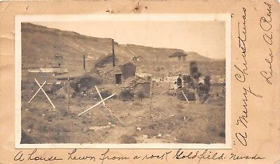 LP51 RPPC Goldfield Nevada Mining Ghost Town Snapshot  Photo on Vintage Postcard