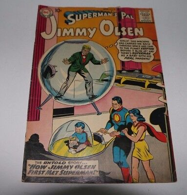 DC Comics #36 April 1959 Superman's Pal Jimmy Olsen, Very Good