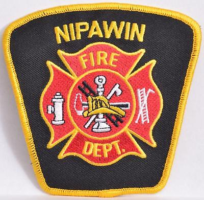 Nipawin Saskatchewan Canada Fire Rescue Department Embroidered Shoulder Patch