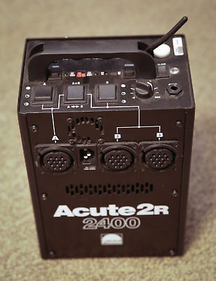Profoto Acute 2400-R, with (2) heads, and modifiers