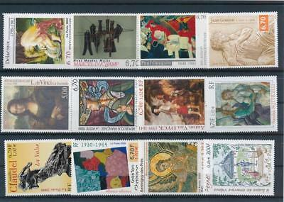 [G113988] France Art Painting Good lot of Very Fine MNH stamps