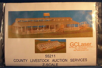 GCLaser County Livestock Auction Services Kit -Z Scale- Brand New Sealed Package