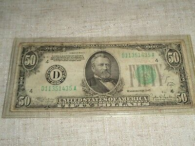 1934 Fifty $50 Federal Reserve Note (2)