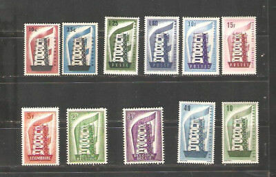 Z102                  Europa Cept 1956 MNH selection incomplete