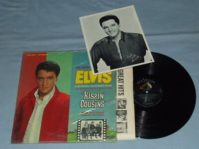 "1963 Elvis ""Kissin Cousins"" LP (Factory Shrink)!! Super Clean W/Bonus Photo!!"
