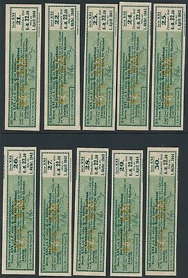 Bond Germany Reich Coupon WWII 1940-44 3rd Reich Coupon Series Stocks Sachsen U