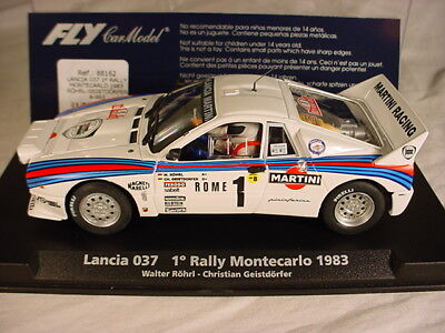 Fly Lancia 037 #1 MARTINI Monte Carlo 1983 Walter Rohrl A993 MB, 1/32 slot car.