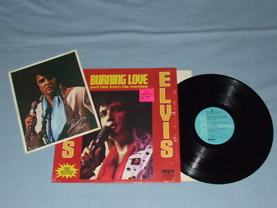 "1972 Elvis ""Burning Love"" LP (Shrink)!! W/Starburst & Photo"