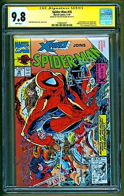 Spider-Man #16 (1991 Marvel) X-Force appearance Signed Todd Mcfarlane CGC 9.8