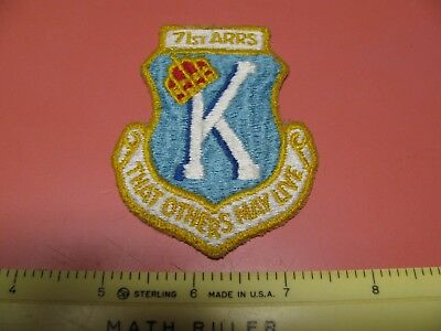 Vietnam Era Usaf 71St Air Rescue Recovery Squadron Colored Uniform Patch ~Nice~