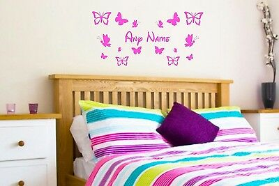 Personalised Name/Butterfly Wall Art, Girls/Kids Bedroom,Custom Vinyl Sticker