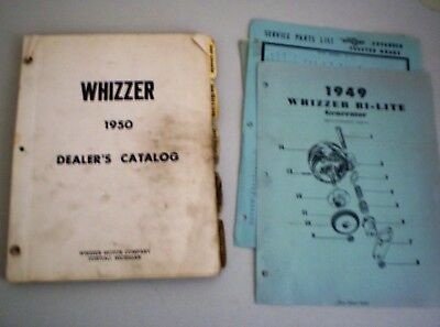 Vintage 1950 Whizzer Dealer's Catalog Whizzer Motor Company Pontiac MIchigan
