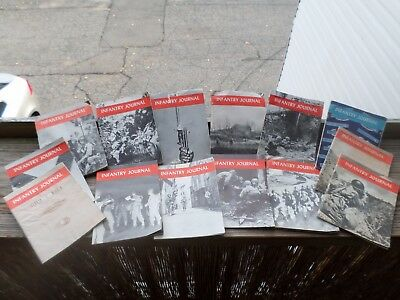 wwii infantry journal overseas edition lot 1943 1944 1945 14 booklets book ww2