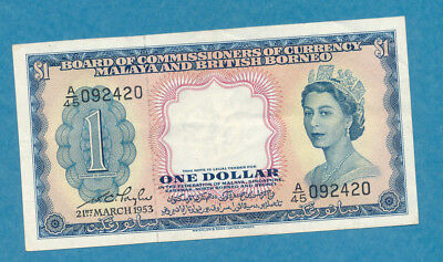 Board of Commissioners of Currency Malaya and British Borneo $1 P-1