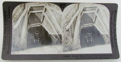French Mortar In Chamber Antique Wwi Stereoview Photo