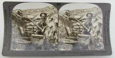 British Rifle Grenade In Balkans Antique Wwi Stereoview Photo