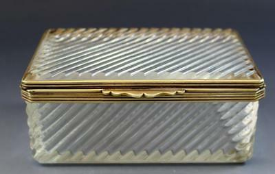 C1890 French Cut Crystal Glass Ladies Dresser Box Gilt Bronze Mounted No Reserve