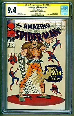 Amazing Spider-Man #47 (1967 Marvel) Kraven appearance Signed Stan Lee CGC 9.4