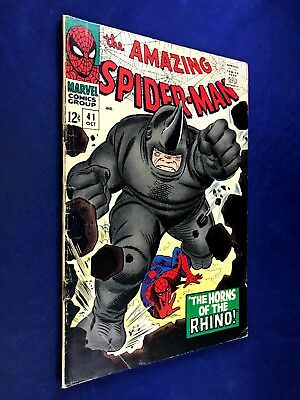 Amazing Spider-Man #41 (1966 Marvel Comics) 1st appearance Rhino NO RESERVE