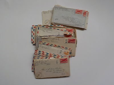 43 WWII Letters U.S.S. Dent Navy Sailor WW2 Hollywood California Lot World War 2