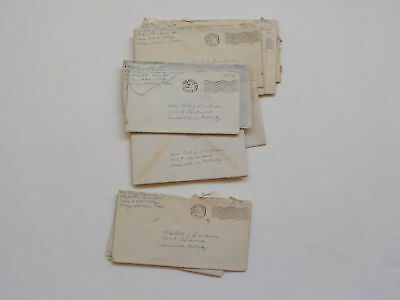 16 WWII Letters Soldier Texas A&M College Station WW2 Lot Louisville Kentucky