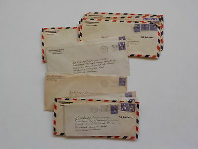 17 WWII Letters Wife 333rd Bomb Group Pilot School Courtland Alabama WW2 Lot VTG