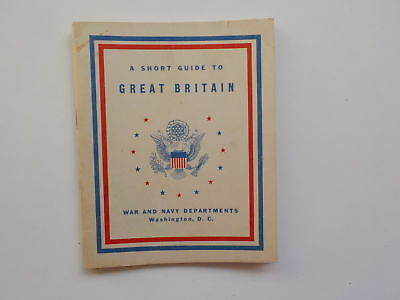 WWII Booklet 1942 A Short Guide To Great Britain War And Navy Departments WW2 NR