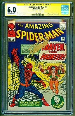 Amazing Spider-Man #15 1964 Marvel 1st appearance Kraven Signed Stan Lee CGC 6.0