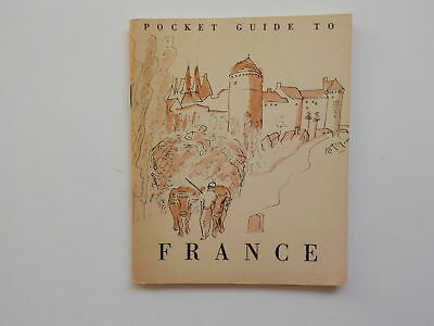 WWII Booklet 1944 Pocket Guide To France WW2 Book World War Two French VTG WW II