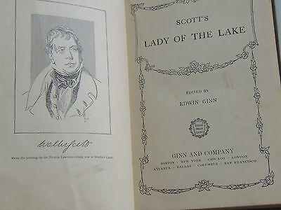 "Sir Walter Scott 1st. Edition ""The Lady of the Lake"" 1903 Antique Book"