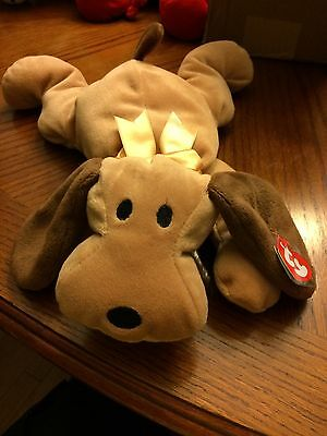 Woof The Dog Beanie Baby Pillow Pal!  New, Never Displayed! Nice!