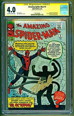 Amazing Spider-Man #6 (1963 Marvel) 1st app Dr Octopus Signed Stan Lee CGC 4.0