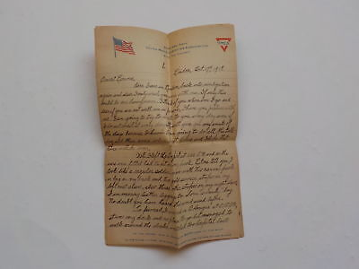 WWI Letter 1918 Sick Wounded London England Met Canadian Officer WW1 War WW I NR