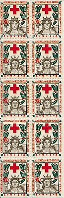 Stamp US Christmas Seals Sheet WWI 1918 American Red Cross Classic MNH