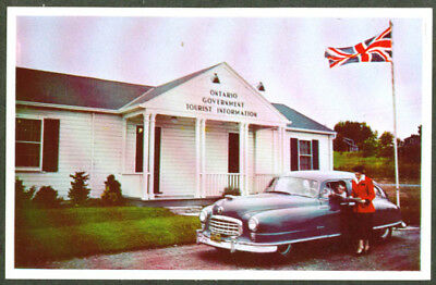 1950 Nash at Visitors Center ON Canada postcard