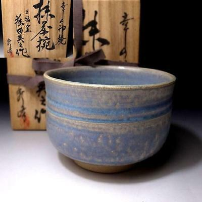 VH2: Japanese Pottery tea bowl by famous potter, Hideyuki Soga