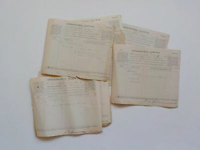 10 Antique Documents 1892 Intercolonial Railway Londonderry Canada Lot Papers NR