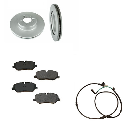 2 Meyle FRONT Disc Rotor Brake Sensor OPparts Pad Kit for BMW x5 x6 SEE FITMENT
