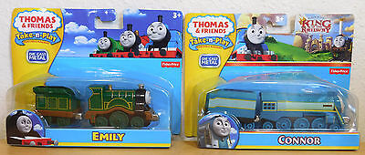 CONNOR KING of RAILWAY & EMILY Fisher Price Take n Play Thomas & Friends  NEW
