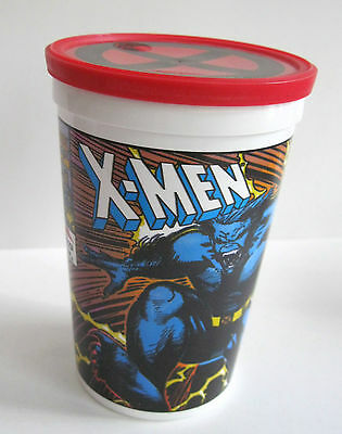 1993 Marvel Comics PIZZA HUT Promo Cup w/X-MEN Logo Lid STORM BEAST Never Used